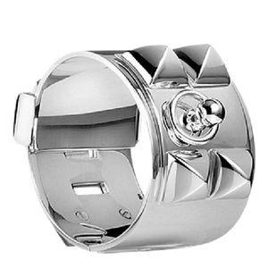 Sterling silver Collier de Chein Hermes bracelet L for sale